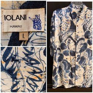 Iolani Vintage Barkcloth Men's Hawaiian Shirt